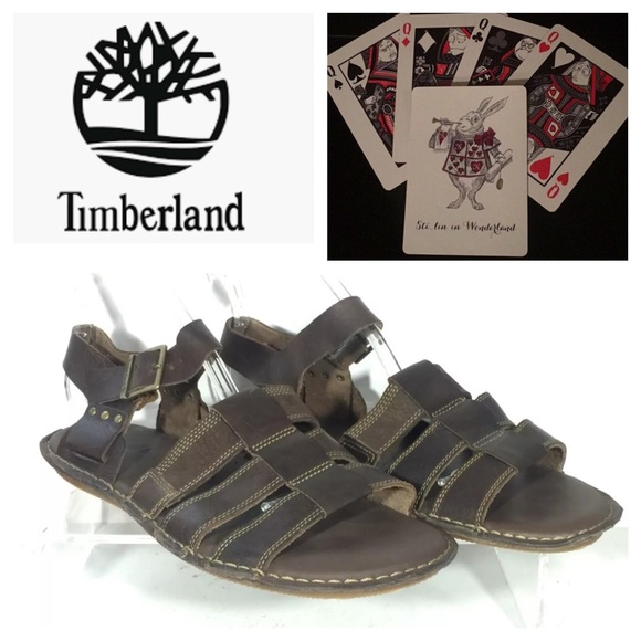 14800555ec New Timberland Point Harbor Sandals Leather Men 12.  M 5b89e9e0129955fa507c6697